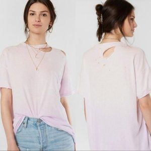 Free People Lucky T-Shirt Lavender Size M